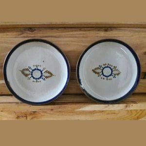 """Tonala Mexico Pottery 8"""" Plates"""